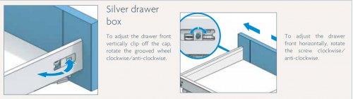silver drawer box adjustment
